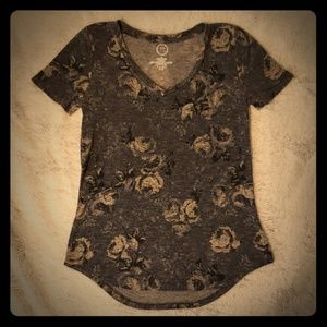 Antique grey floral T-Shirt